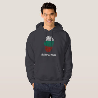 Bulgarian touch fingerprint flag hoodie