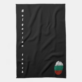 Bulgarian touch fingerprint flag tea towel