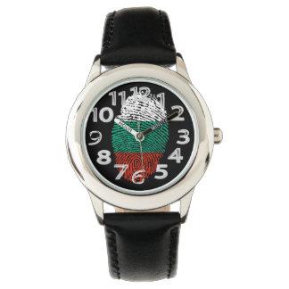 Bulgarian touch fingerprint flag watch