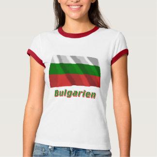Bulgarien Fliegende Flagge mit Namen Tee Shirt