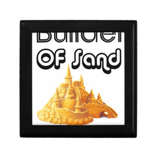 Bulider Of Sand Castles Small Square Gift Box