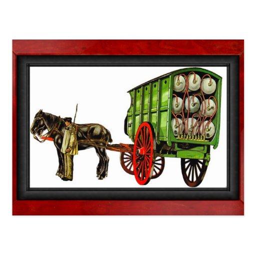 Bulk Gas Wagon, France Postcard