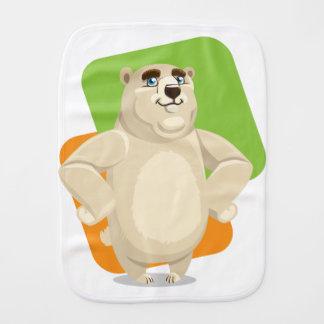 Bulky bear burp cloth