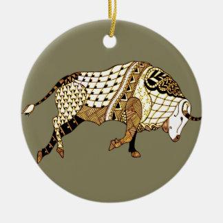 Bull 1 ceramic ornament