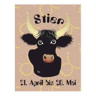 Bull 21 April to 20. May postcard