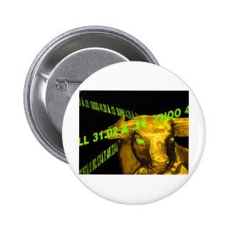 Bull 6 Cm Round Badge