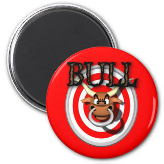 bull 6 cm round magnet
