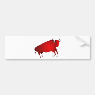 Bull a la Altamira Bumper Sticker