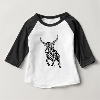 bull animal art design baby T-Shirt