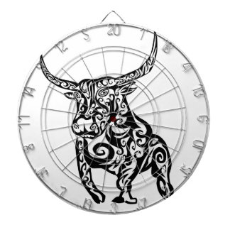 bull animal art design dartboard