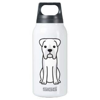 Bull Boxer Dog Cartoon 0.3L Insulated SIGG Thermos Water Bottle