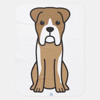 Bull Boxer Dog Cartoon Baby Blanket