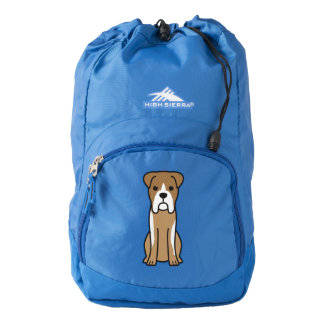 Bull Boxer Dog Cartoon Backpack