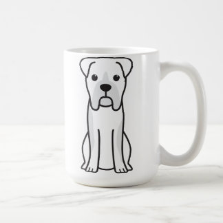 Bull Boxer Dog Cartoon Basic White Mug