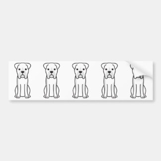 Bull Boxer Dog Cartoon Bumper Sticker