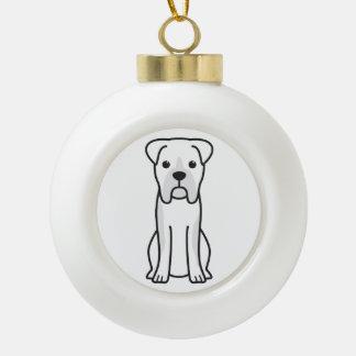 Bull Boxer Dog Cartoon Ceramic Ball Decoration