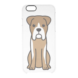 Bull Boxer Dog Cartoon Clear iPhone 6/6S Case