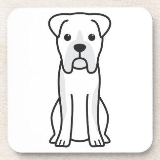 Bull Boxer Dog Cartoon Drink Coasters