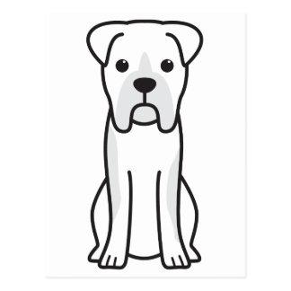 Bull Boxer Dog Cartoon Postcard
