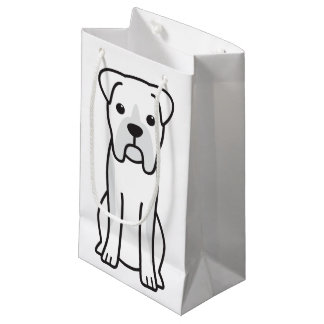 Bull Boxer Dog Cartoon Small Gift Bag