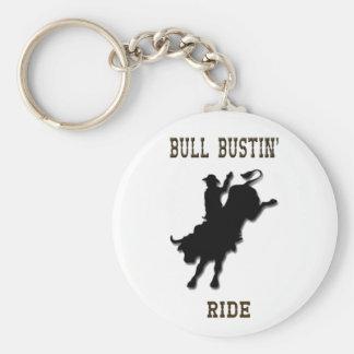 Bull Bustin' Ride Keychain