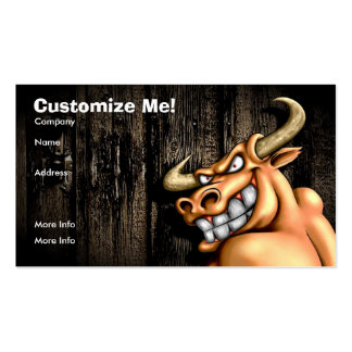 Bull Card / Customizable Pack Of Standard Business Cards