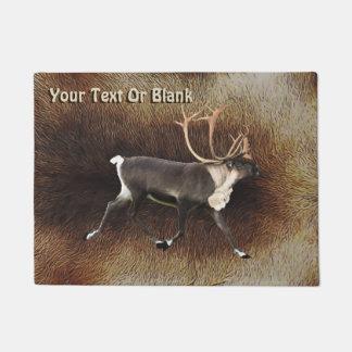 Bull Caribou (Reindeer) Doormat