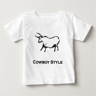 Bull Cowboy Style Black T Shirts