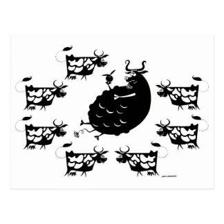 Bull & Cows Postcard