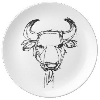 Bull Decorative Plate