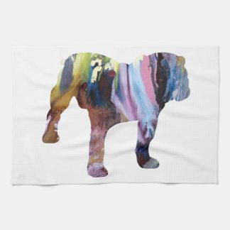 Bull dog tea towel