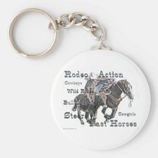Bull Dogging II Key Ring