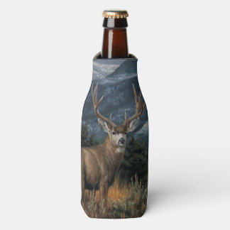 Bull Elk and Herd Bottle Cooler