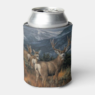 Bull Elk and Herd Can Cooler