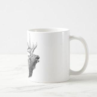 Bull Elk Basic White Mug