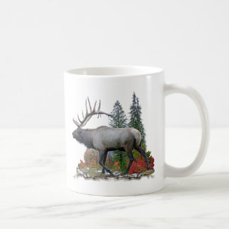 Bull Elk Basic White Mug