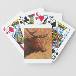Bull Elk Bicycle Playing Cards