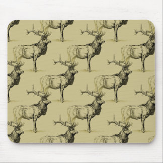 Bull Elk Hunters Wildlife Big Game Hunting Antlers Mouse Pad