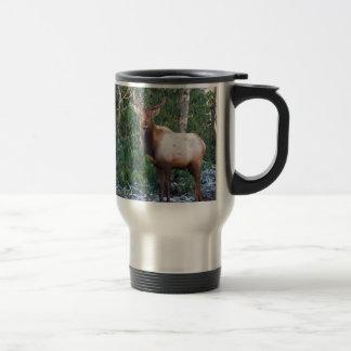 Bull Elk in Rhododendrons Mug