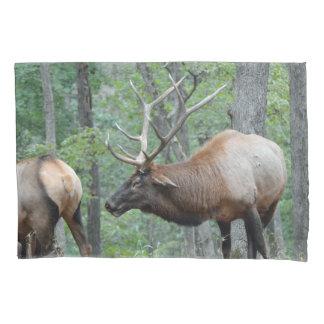 Bull Elk In Rut Smiling Pillowcase