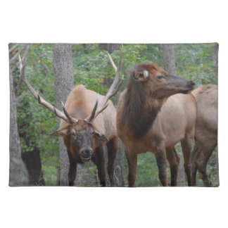 Bull Elk In Rut Smiling Placemat