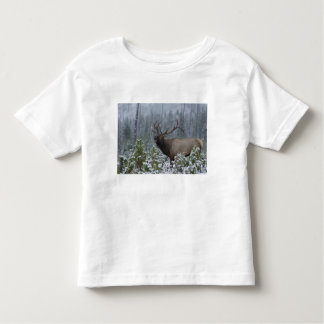 Bull Elk in snow calling, bugling, Yellowstone Toddler T-Shirt