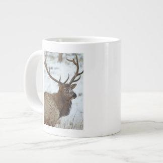 Bull elk in winter in Yellowstone National Jumbo Mug
