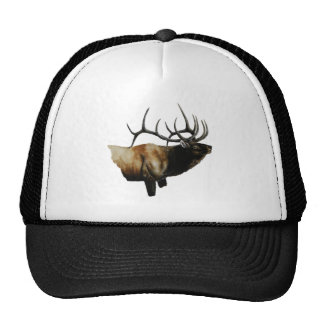Bull Elk Painting on customizable products Cap