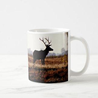 Bull Elk Silhouette Coffee Mug