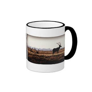 Bull Elk Silhouette Ringer Mug
