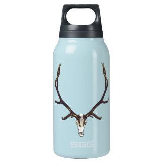 Bull elk skull color insulated water bottle