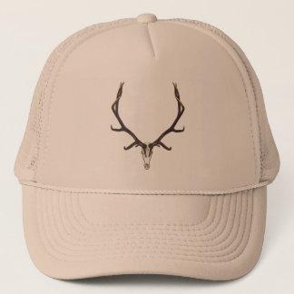 Bull elk skull color trucker hat