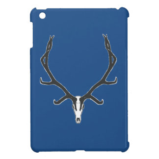Bull elk skull European mount, bw iPad Mini Case