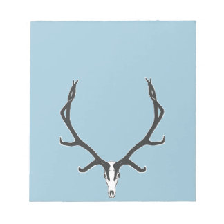 Bull elk skull European mount, bw Notepad